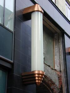 Beispiel 19, gebogenes Glas