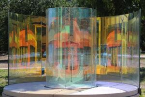 Beispiel 28, gebogenes Glas