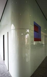 Beispiel 30, gebogenes Glas