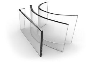Beispiel 6, gebogenes Glas